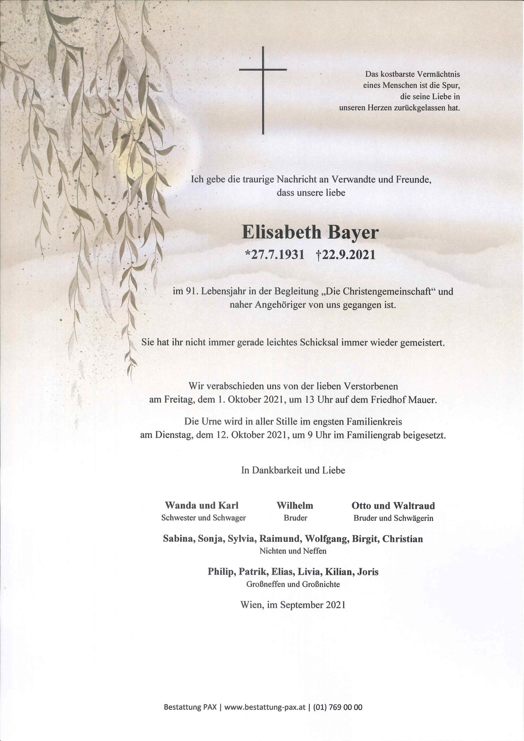 Elisabeth Bayer