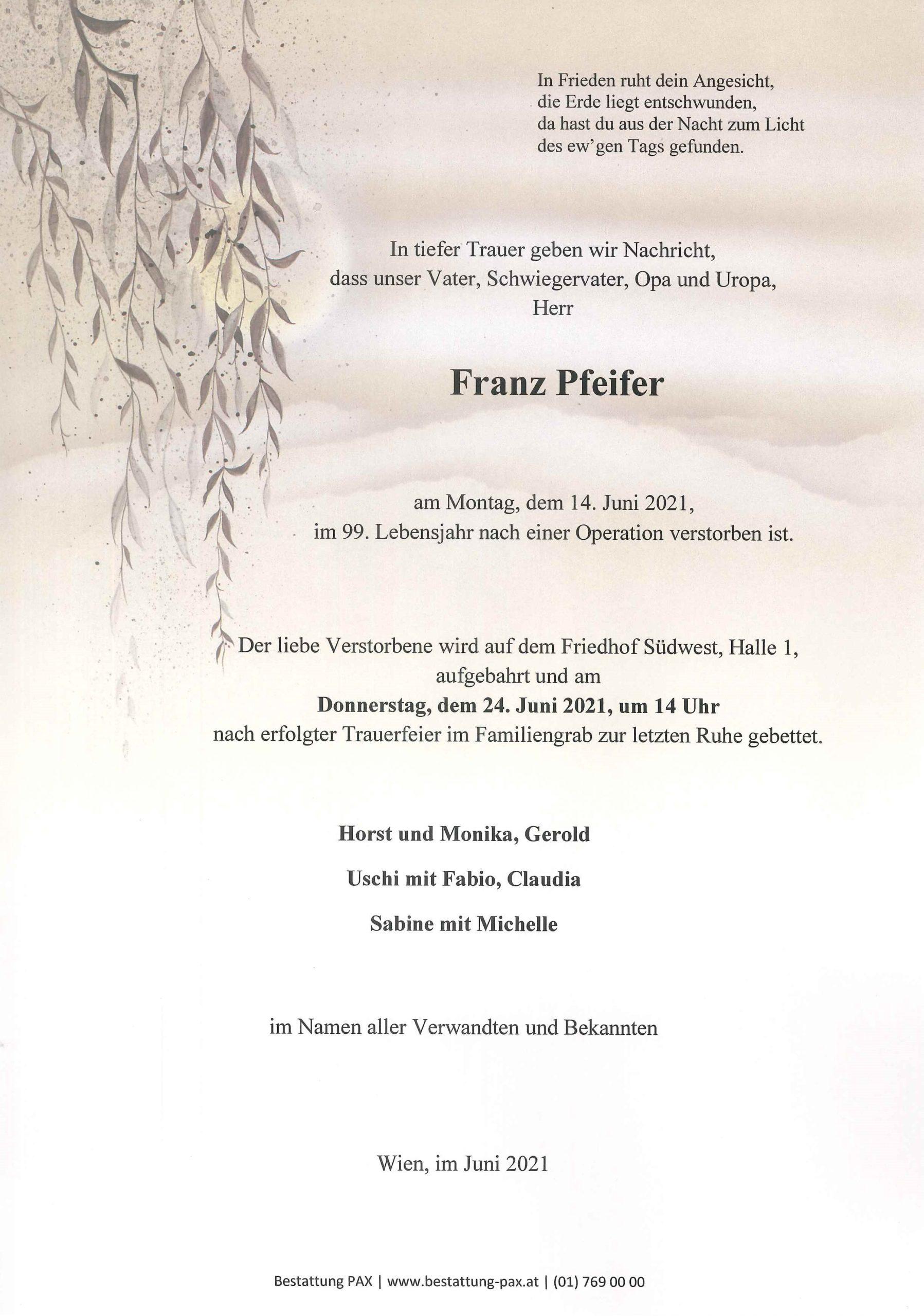 Franz Pfeifer
