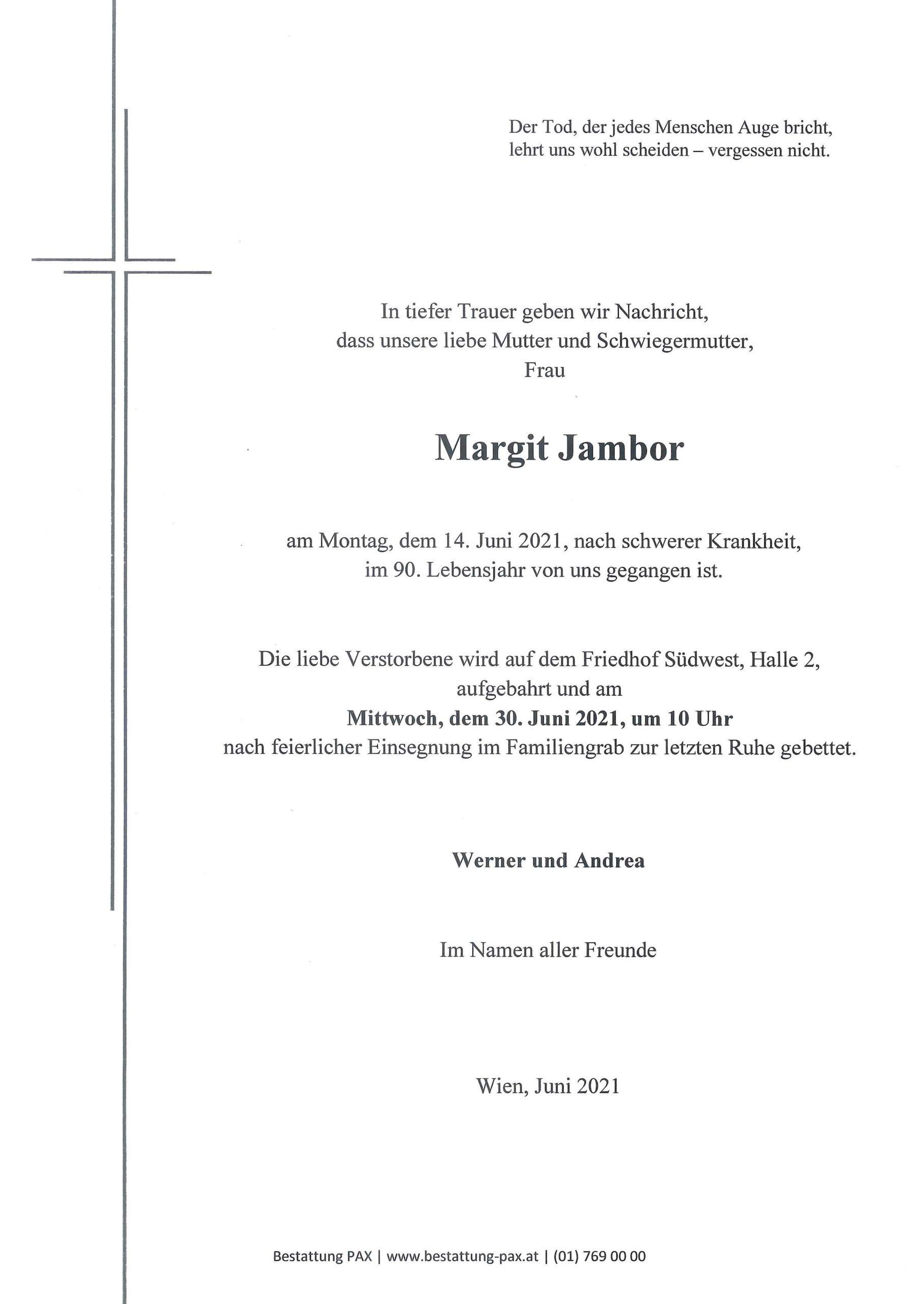 Margit Jambor